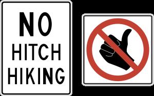No Hitchhiking