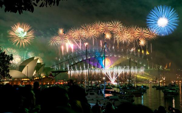 Sydney Harbour Bridge New Year fireworks