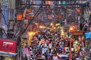 A Busy Street, Chandni Chowk, Delhi